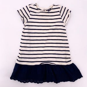Baby Gap 4T Girls Stripe Short Sleeve Dress